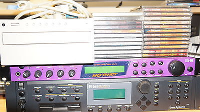 E-mu Mo Phatt, ESI 4000 Sampler w/ 7 Disc cd Changer + many samples.