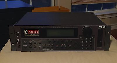 E-MU E6400 ULTRA SAMPLER w/ Max Audio Sample Library and Max RAM - CLEAN!