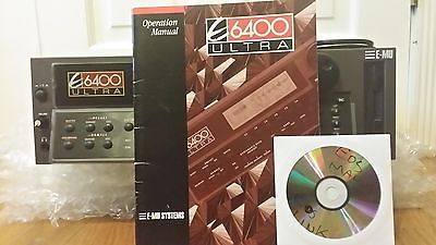 EMU ENSONIQ E6400 ULTRA SAMPLER V4.70 + 128MB RAM 20GB DRIVE W/PRELOADED LIBRARY